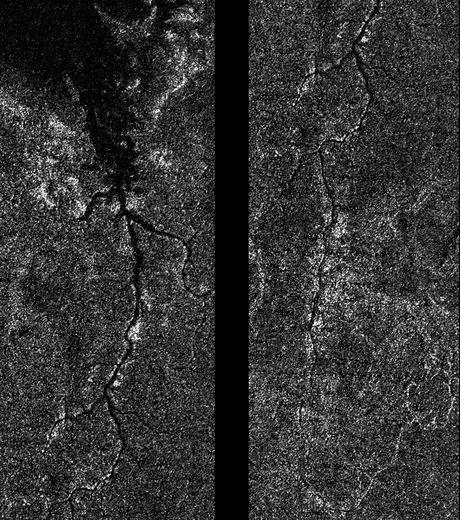 Vu de par la sonde Cassini, le fleuve ressemble en tous points à ceux que l'on retrouve sur Terre. Crédit : Nasa/JPL/Caltech.