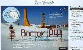 Lac sous glaciaire Vostok  au Pôle Sud