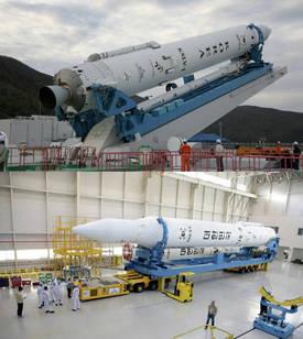 Le KSLV-1 lors de sa préparation pour son vol alors prévu en novembre 2012. Celui-ci doit avoir lieu dans une fenêtre de dix jours à compter du 30 janvier. © Kari