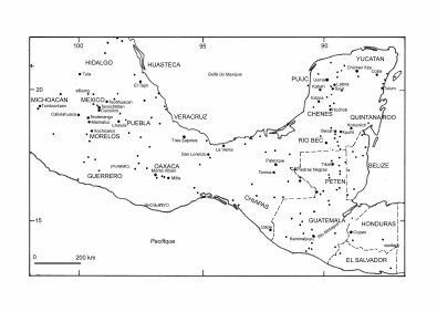 Carte de localisation des principaux sites. Source image:roches-ornementales.com