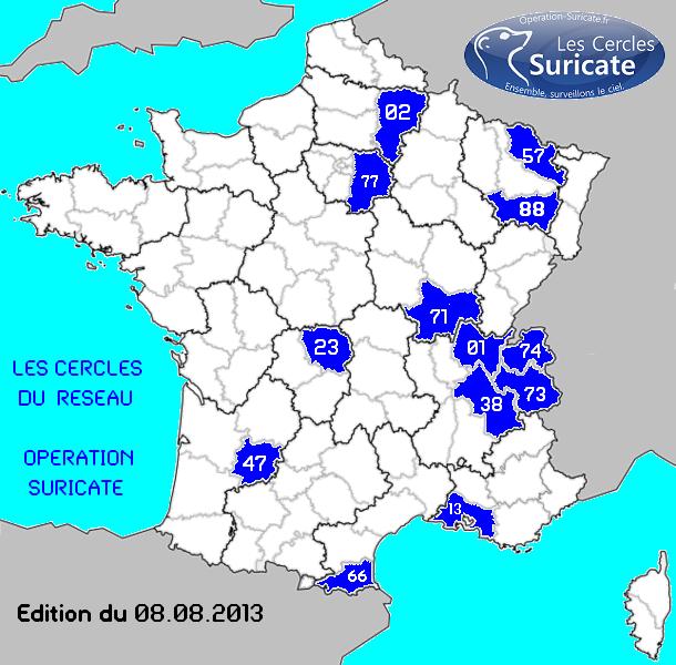 carte de FRANCE Suricate