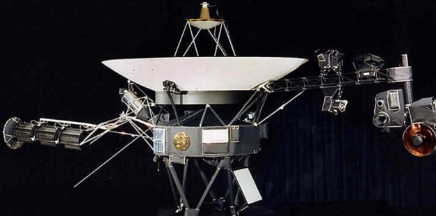 credit: sciences&avenir L'une des deux sondes Voyager, photo transmise par la NASA le 9 août 2002. (AFP PHOTO/NASA/ FILES)