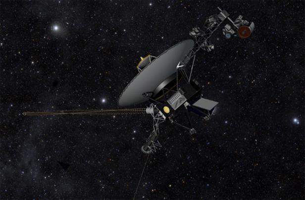 La sonde Voyager 1 a été lancée en 1977 (vue d'artiste). NASA