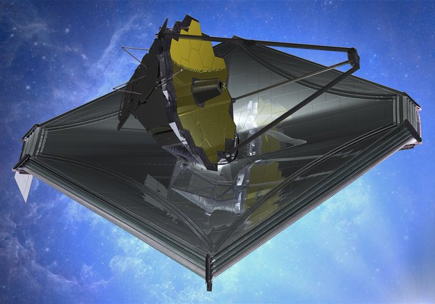JWST James Webb Space Telescope illustration crédit: ESA