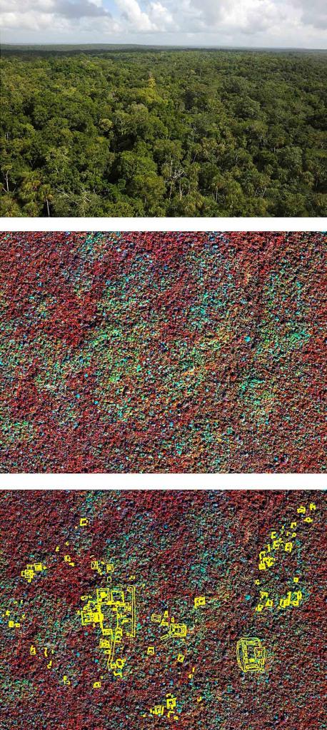 La région de Peten au Guatemala, où Saturno et la NASA ont utilisé les données de télédétection pour repérer et interpréter les vestiges d'une ancienne cité maya. Image: NASA / Getty Images