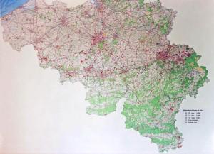 Figure 1 : la carte des observations établie en 1991 et publiée dans VOB1 p441 crédit: cobeps.org