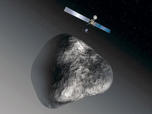 Après avoir parcouru sept milliards de kilomètres la sonde Rosetta a rendez-vous cet été avec une comète.Reuters/European Space Agency/C.Carreau