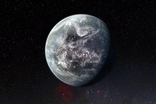 Représentation d'artiste de la super Terre HD 85512 b détectée par l'instrument HARPS de l'ESO