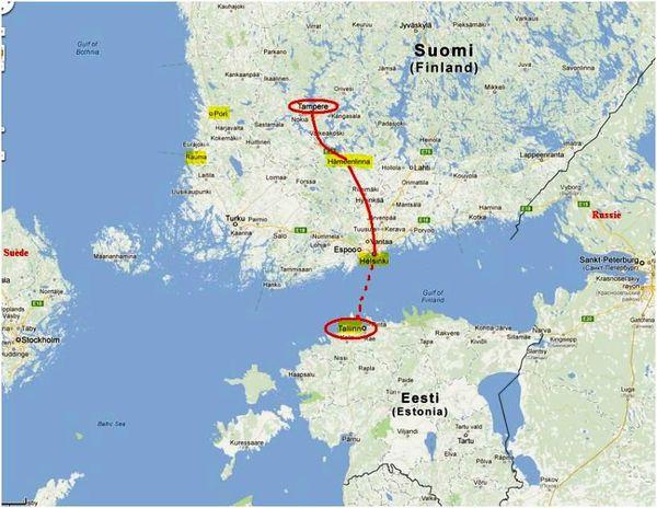 Tallinn est la capitale de l'Estonie. La ville compte 409 000 habitants. Image source: pierrevtamperefi.canalblog.com/