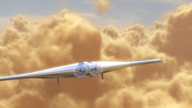 L'avion de Northrop Grumman s'appuie sur des études d'ailes volantes réalisées dans le cadre de projets de recherche avancée de défense américaine (Darpa). © Northrop Grumman