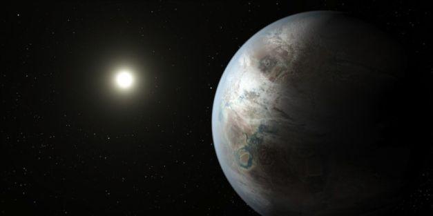 Kepler 452b, représentée sur cette vue d'artiste, présente de nombreuses similarités avec la Terre. illustration crédit: Nasa