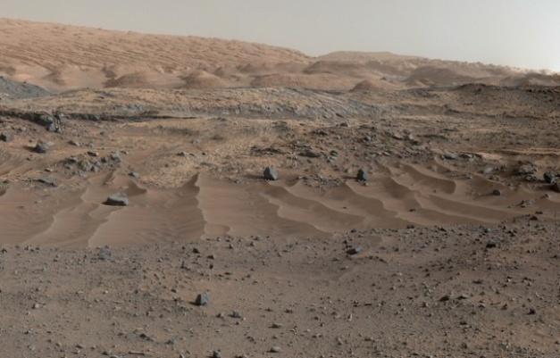 Panorama martien photographié par Curiosity. - NASA/JPL-Caltech/MSSS