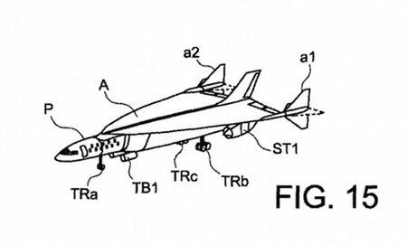 Dessin déposé par Airbus, et modélisation du brevet © Airbus