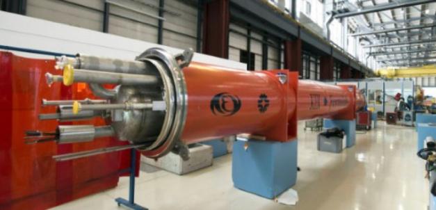 Le LHC, accélerateur de particules du Centre européen de recherche sur le nucléaire (CERN) de Genève, en Suisse, le 10 février 2015 (c) Afp