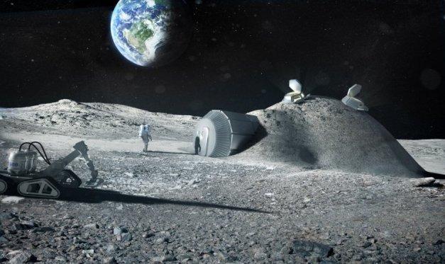 L'ESA imagine une base lunaire imprimée en 3D / ESA