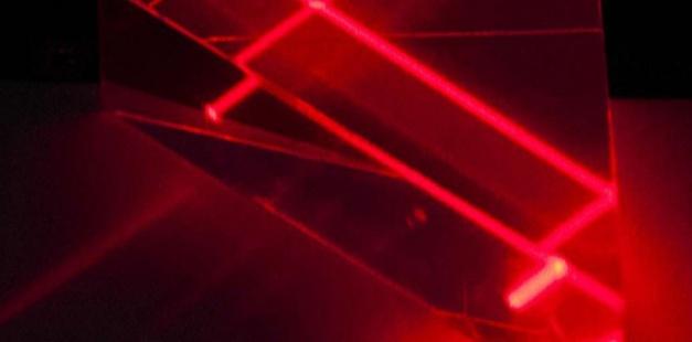 Des faisceaux laser. Image d'illustration. Jake May/AP/SIPA