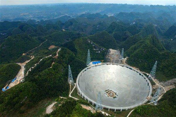 FAST radio telescope [Photo/Xinhua: State Council, People's Republic of China] credit photo/ swling.com/