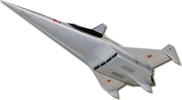 """GSR (""""ГСР"""" en russe signifie """"Avion Lanceur Supersonique"""") est un avion à aile delta Crédit illustration/ opusmang.com"""