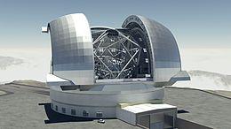 The E-ELT Vue d'artiste du Télescope géant européen -crédit: creativecommons.org