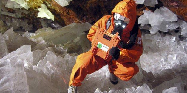crédit: FLICKR/CC BY OGGISCIENZA Les grottes mexicaines de Naica sont connues pour leurs nombreux cristaux.